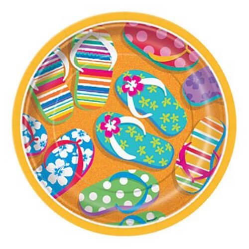 Piatti hawaiani flip flop piccoli 8 pezzi