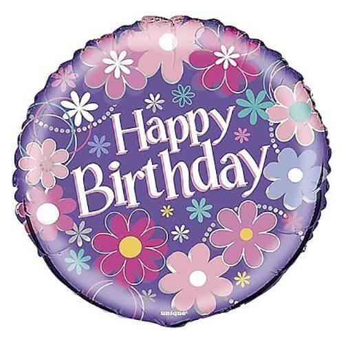 Palloncino giardino con scritta happy birthday 45 cm 1 pezzo