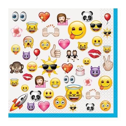 Tovaglioli Emoji 16 pezzi