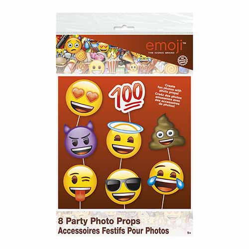 Set photo booth Emoji per selfie e foto 8 pezzi