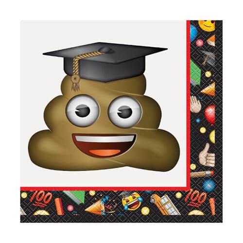 Tovaglioli Emoji diploma e laurea 16 pezzi