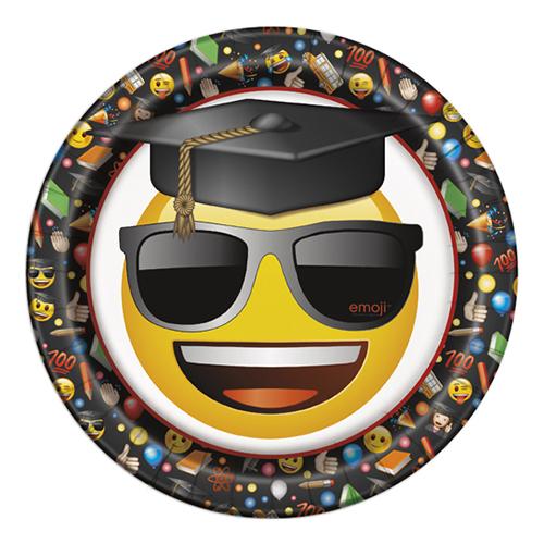 Piatti Emoji laurea grandi 8 pezzi