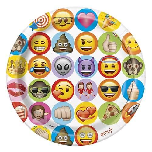 Piatti Emoji grandi 8 pezzi