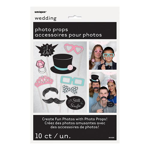 Set photo booth matrimonio per selfie e foto 10 pezzi