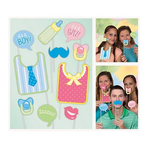 Set photo booth nascita per selfie e foto 10 pezzi