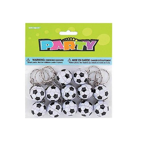 Portachiavi pallone campionato Calcio 12 pezzi