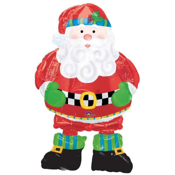 Palloncino Babbo Natale mascotte AirWalkers 1 pezzo