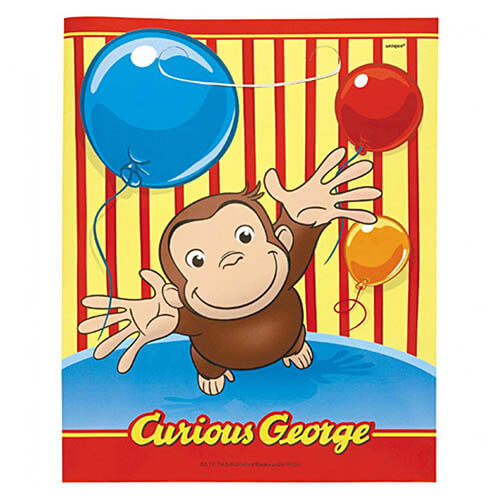 Bustine Curioso come George per regali fine festa 8 pezzi