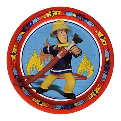 Piatti Sam il pompiere grandi 8 pezzi