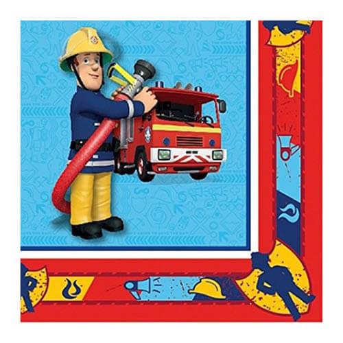 Tovaglioli Sam il pompiere 16 pezzi