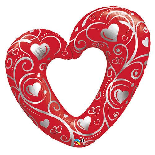 Palloncino cuore sagomato filigrana UltraShape 1 pezzo