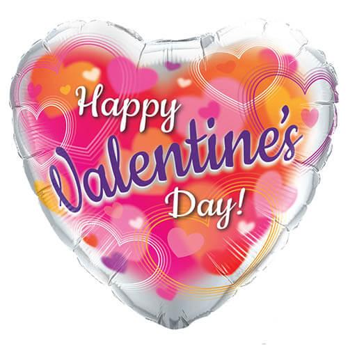 Palloncino cuore scritta Happy Valentine Day 45 cm 1 pezzo