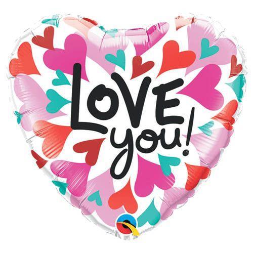 Palloncino cuore love you pop 45 cm 1 pezzo