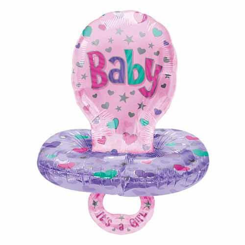 Palloncino ciuccio bambina Baby Girl Multi-Balloon 1 pezzo