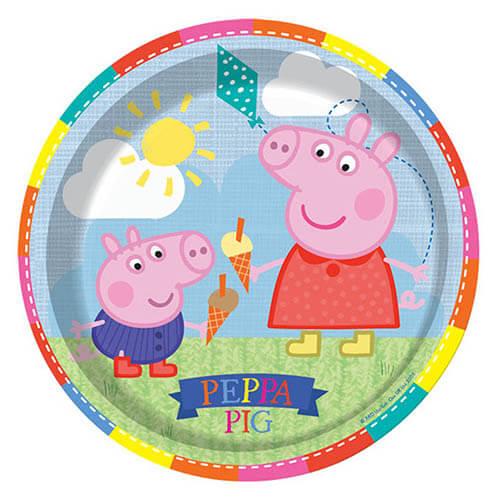 Piatti Peppa Pig grandi 8 pezzi