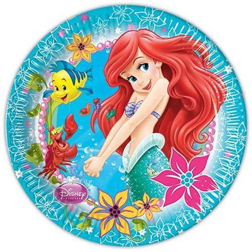 Piatti Ariel la sirenetta grandi 8 pezzi