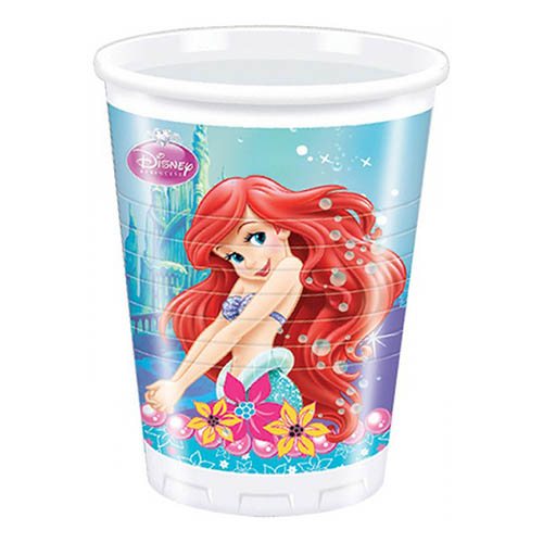 Bicchieri Ariel la sirenetta 8 pezzi