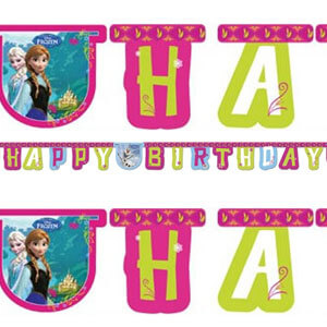 Festone Frozen per compleanno scritta happy BDay 1 pezzo