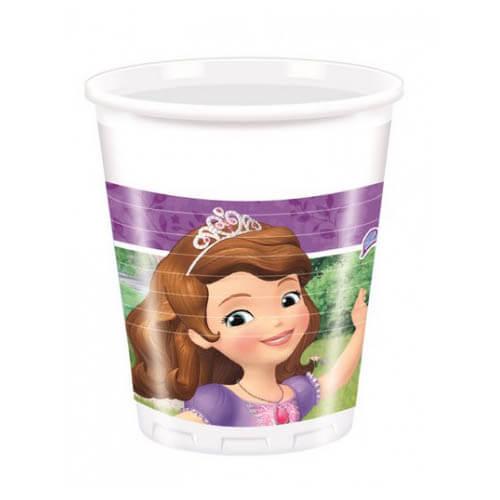 Bicchieri Sofia la principessa Disney 8 pezzi