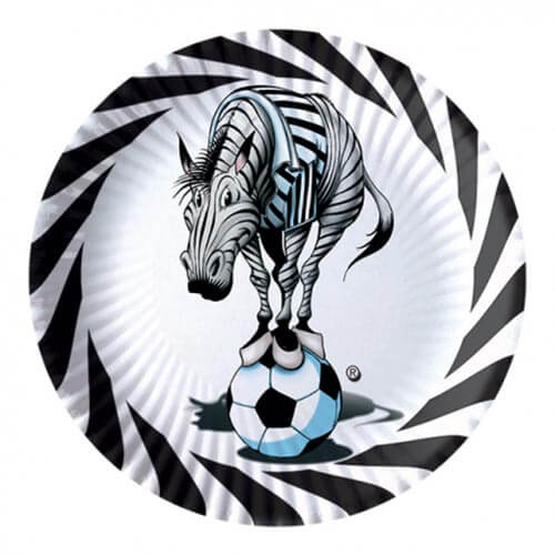Piatti Juventus Zebrotta Bianconero grandi 10 pezzi