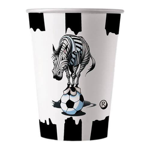 Bicchieri Juventus Zebrotta Bianconero 10 pezzi