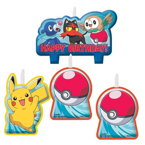 Candeline Pokémon 4 pezzi