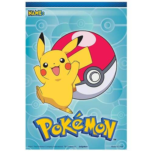 Bustine Pokémon per regali fine festa 8 pezzi
