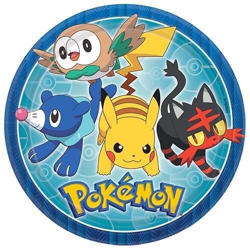 Piatti Pokémon grandi 8 pezzi