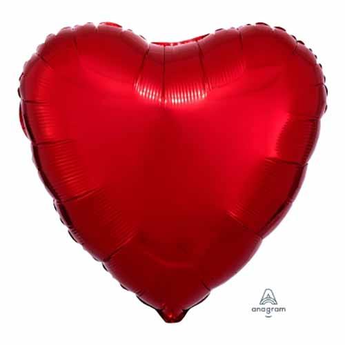 Palloncino cuore rosso 43 cm 1 pezzo