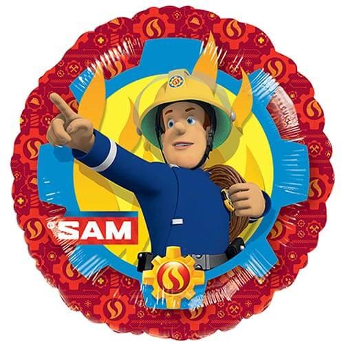 Palloncino Sam il Pompiere 45 cm 1 pezzo