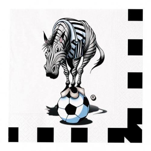 Tovaglioli Juventus Zebrotta Bianconero 20 pezzi