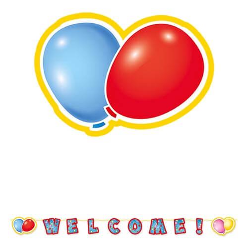 Festone benvenuto grande scritta Welcome 1 pezzo