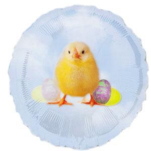 Palloncino Pasqua pulcino con uova 45 cm 1 pezzo