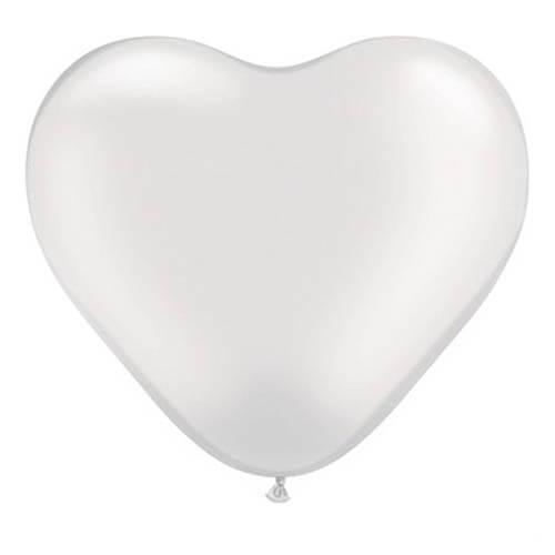Palloncini cuore bianco lattice 26 cm 20 pezzi