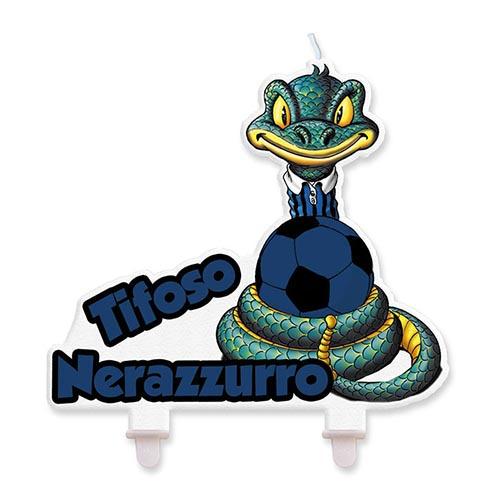 Candelina Inter Sibilo Nerazzurro 1 pezzo
