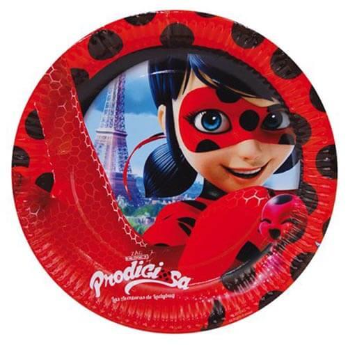 Piatti Miraculous Ladybug grandi 8 pezzi