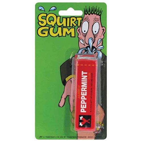 Pacchetto chewing gum spruzza acqua scherzo per feste 1 pezzo
