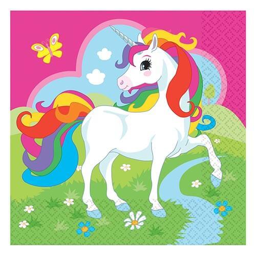 Tovaglioli Unicorno Arcobaleno 20 pezzi