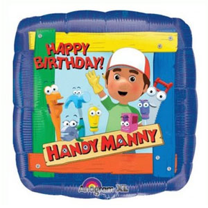 Palloncino Handy Manny compleanno scritta happy BDay 45 cm 1 pezzo