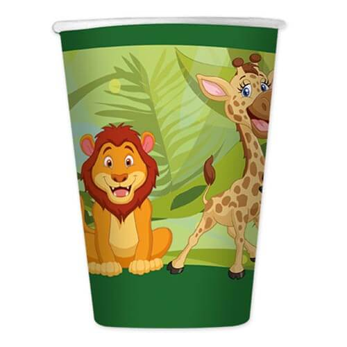 Bicchieri giungla 8 pezzi