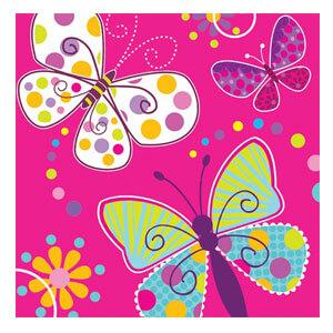 Tovaglioli farfalle 20 pezzi