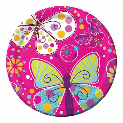 Piatti farfalle grandi 8 pezzi