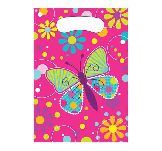 Bustine farfalle per regali fine festa 8 pezzi