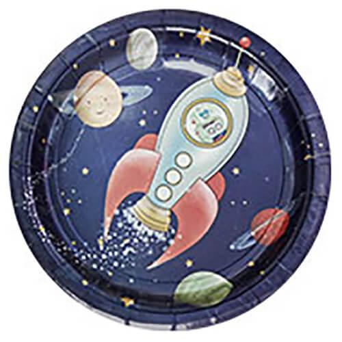 Piatti avventura nello spazio 8 pezzi
