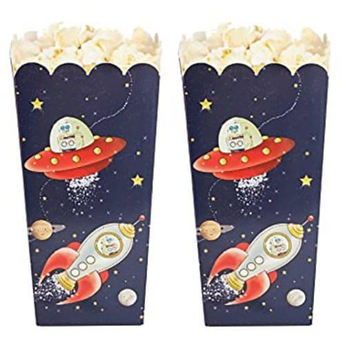 Contenitori avventura nello spazio per popcorn 8 pezzi