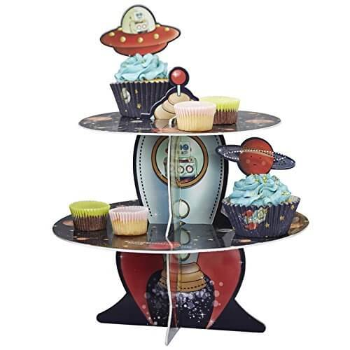Alzata cupcake avventura nello spazio 1 pezzo