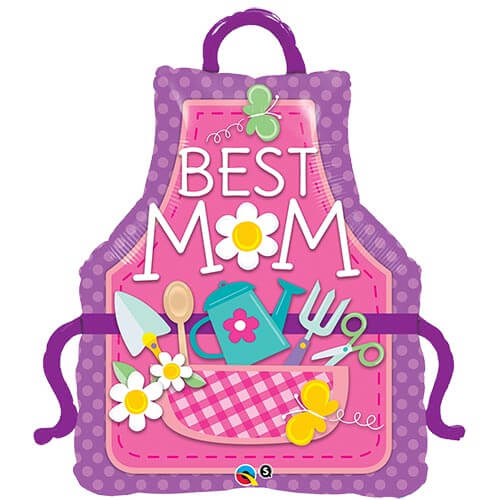 Palloncino grembiule della mamma scritta Best Mom UltraShape 1 pezzo