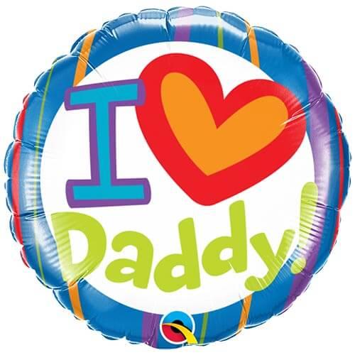 Palloncino festa del papà scritta I Love Daddy 45 cm 1 pezzo