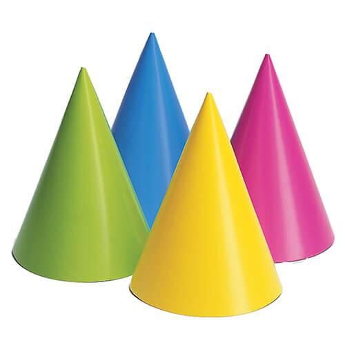 Cappellini cono fluo 8 pezzi