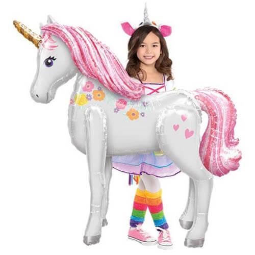 Palloncino Unicorno Arcobaleno mascotte AirWalkers 1 pezzo
